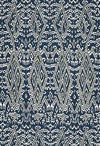 Maya Ikat Print Indigo by F Schumacher Fabric