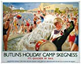 Butlins Skegness (old railway advert) metal sign (og 2015)