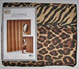 Leopard and Tiger Reversible Fabric Shower Curtain