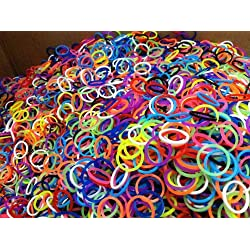 [Best price] Arts & Crafts - Loom Rubber Bands - 600 Loom Band Refill Rainbow Colors Variety Value Pack with 24 Loom Bands S Clips - 100% Compatible with All Looms - toys-games