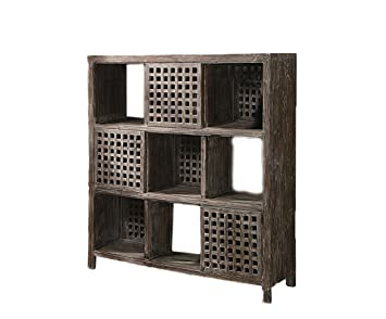 Crestview Rustic Wall Unit Entertainment Stand