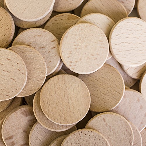 Round unfinished 1 5 wood cutout circles chips for arts for Unfinished wood pieces for crafts