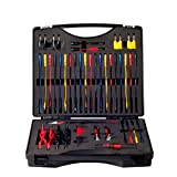 ICARSCANNER Multi Function Automotive Circuit Tester Lead Kit Contains 92 Pieces Of Essential Test Aids & Test Lead & Electrical Testers & Auto Diagnostic Tools Wire Connectors Adapter Cables Set