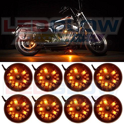 8Pc. Orange Led Pod Lighting Kit