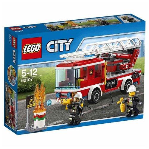LEGO - Camión de bomberos con escalera, multicolor (60107)