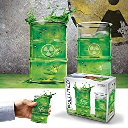 Polluted - Toxic / Radioactive Barrel Shaped Drinking Glasses