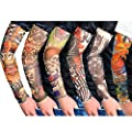Eforstore New Fashion Pack of 6 pcs Temporary Fake Slip on Tattoo Arm Sleeves Body Art Stockings Accessories