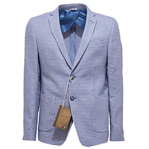 2673O giacca MANUEL RITZ azzurro/bianco giacche uomo jackets men [46]