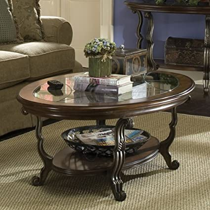 Ambrosia Oval Coffee Table in Terra-Sienna Finish
