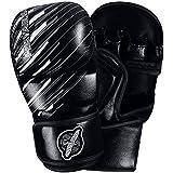 Hayabusa Ikusa Charged 7 Oz Hybrid Gloves, Black/Grey, Small