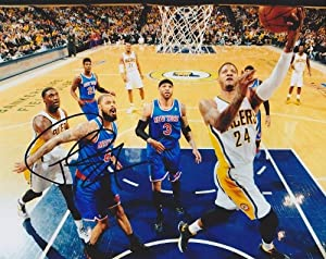 Paul George Autographed  Hand Signed Indiana Pacers 8x10 Photo