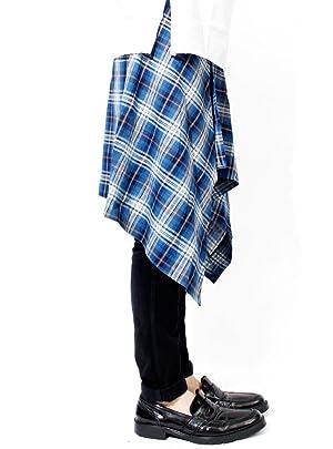 AS SUPER SONIC メンズ チェック フラップスカート