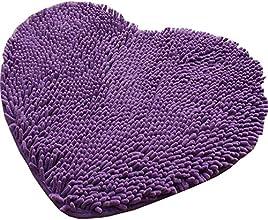 Super Soft Lovely Heart Love Shaped Pad Chenille High Absorption Rug Shaggy Door Mat Doormat Carpet