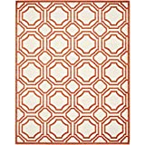 Safavieh Amherst Collection AMT411F Indoor/Outdoor Area Rug, 8-Feet by 10-Feet, Ivory and Orange