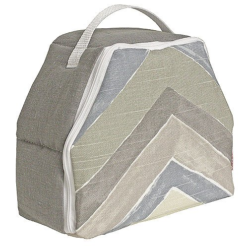 Hoohobbers Munch Box, Chevron Blue