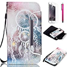 buy Galaxy S6 Case, Jcmax Foldable Pu Leather Wallet Case [Detachable Case] With Card Holders, Magnetic Closure And Detachable Wrist Strap For Samsung Galaxy S6 [Dreamcatcher]