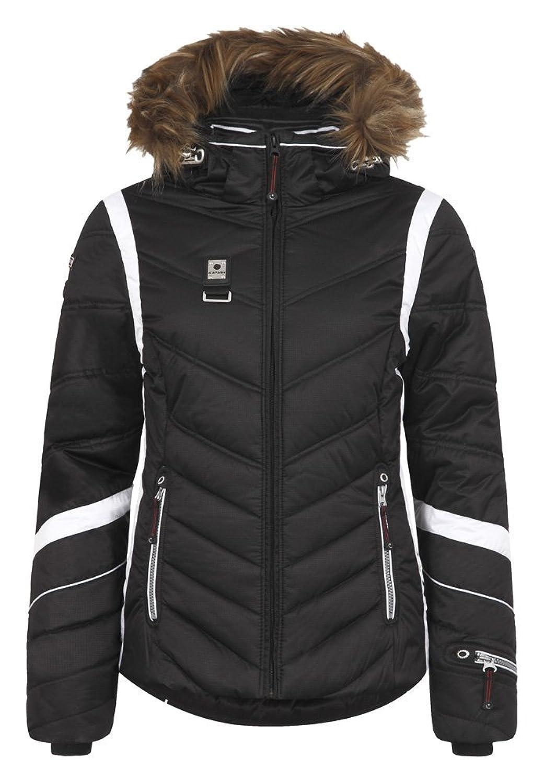 Icepeak Odda 1A 453072512IA Echtpelzkragen Winterjacke Damen schwarz günstig online kaufen