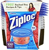 Ziploc Container, Extra Small Bowl, 6-Count(Pack of 2)