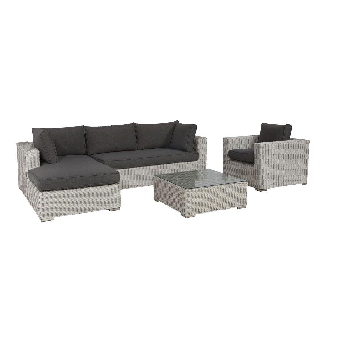 Gartenlounge OUTLIV. Cambridge Loungeset mit Sessel Geflecht White 700016-794709 jetzt kaufen