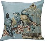 Urban Loft by Westex Bluebirds Feather Filled Cushion, 20 by 20