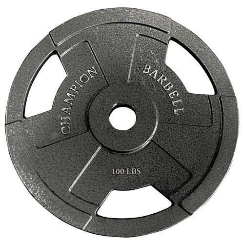 Champion Olympic Grip Plate (100-Pound)
