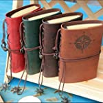 Retro PU Diario Leather Cuaderno Note...