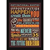 Framed Posters - Inspirational Quotes Gift For Room Walls And Table - 4 Thoughts For Motivation