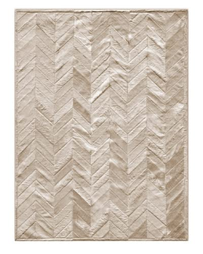 Natural Brand Stitch Hide Rug