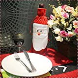 Generic Christmas Decorations Christmas Gift Bag Bottle Set Of Christmas Wine Bags Of Santa Claus Bottle Bag