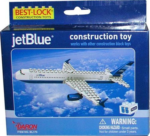 Daron Jet Blue Construction Toy, 55-Piece - 1