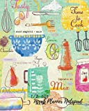 Meal Planner Notepad: Note Pad Journal With Shopping list, Notes And Budget ; 8x10in notebook 100 pages. Menu Planner Organizer Book For Family, Men, Women.