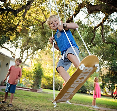 Sk8Swing Skateboard Swing Perfect Replacement for Traditional Swing or Tree Swing - Green (Electronic Swing Groover Ii compare prices)