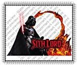 1/2 Sheet DP Stars Wars Sith Lord Frame Photo Cake Edible Icing Image Cake Decoration Topper