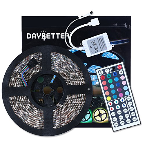 Led Strip Lights 16.4ft 5m Waterproof Flexible Color Changing RGB SMD5050 300leds LED Strip Light Kit with 44 Keys IR Remote Controller (Color Changing Leds compare prices)