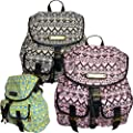 New Ladies LYDC Anna Smith Designer Retro Aztec Print Rucksack Backpack