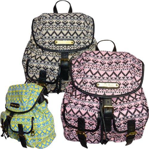 New Ladies LYDC Anna Smith Designer Retro Aztec Print Rucksack Backpack