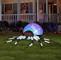 Large Black/White Airblown Kaleidoscope Spider by Gemmy
