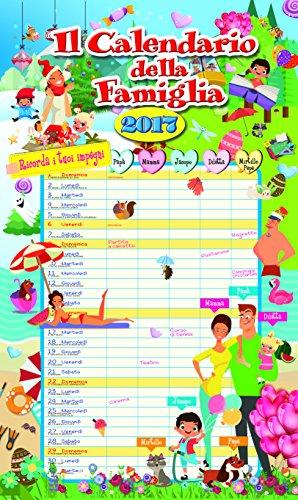calendario agenda FAMIGLIA 2017 - (27,4x45)