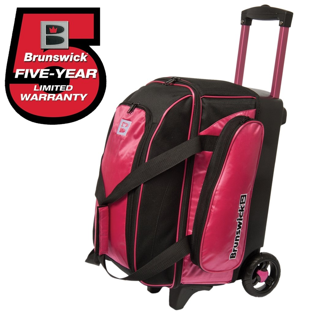Brunswick Gear Double Roller Bowling Bag- Pink/Black зеркальце со стразами la geer 1110072