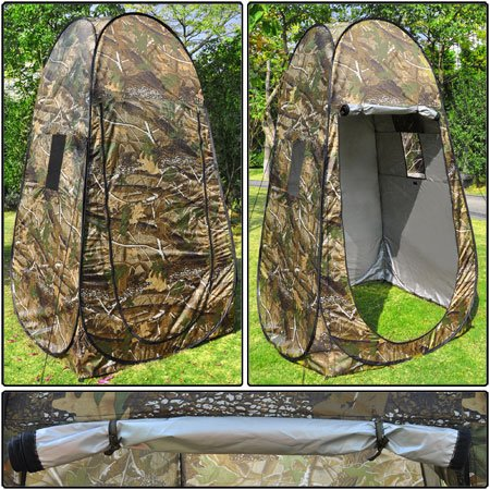 Camouflage Portable Privacy Pop Up Tent In Convenient Compact Size front-923923