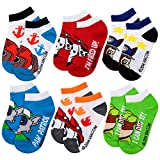 Boys Paw Patrol 6 Pack Knit Ankle No Show Socks (Six Pairs)