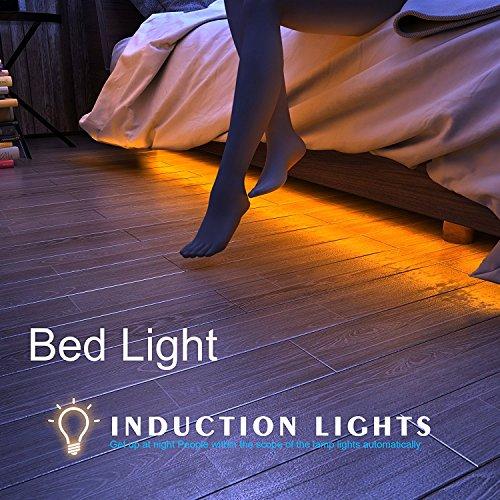 HonestEast-Bett-Licht-LED-Streifenlicht-Bewegung-aktivierte-LED-Lichtleiste-Auto-EinAus-Bewegungsmelder-Nachttischlampe-zwei-Sensor-Kitwarmwei-4FT