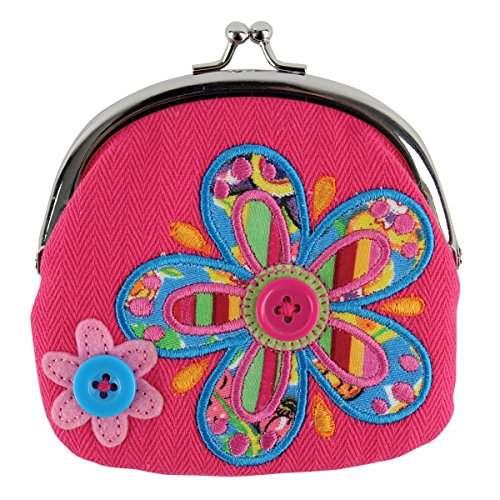 Stephen Joseph Flower Signature Coin Plush Purse