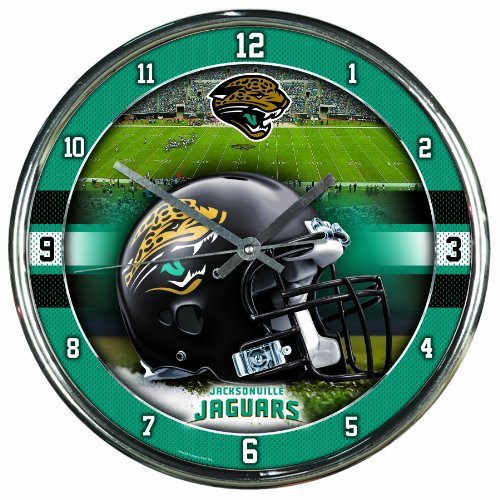 NFL Jacksonville Jaguars Chrome Clock