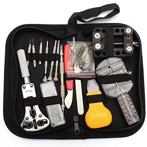 BABAN 144 PCS Orologi Strumenti e kit di riparazione Orologio Attrezzi di Apertura Watch Repair Tool Kit