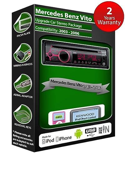 Mercedes Benz Vito de lecteur CD et stéréo de voiture radio Clarion jeu USB pour iPod, iPhone, Android
