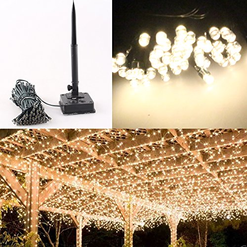 Warm White 12M Fairy Wedding Lights Style Garden Outdoor Xmas Party Special Occasions Lamp Patio Furniture Decoration Celebration DIY Light Kit MS-13