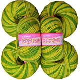 Vardhman Acrylic Knitting Wool, Pack Of 6 (Multi Green) (Pack Of 12)