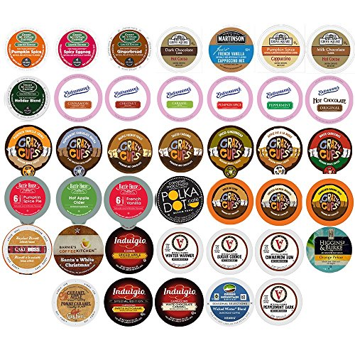 Coffee, Tea, and Hot Chocolate Variety Sampler Pack for Keurig K-Cup Brewers, 40 Count (Keurig Hot Chocolate Sampler compare prices)