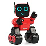 JJRC Remote Control Robot, R4 RC Robot (Interactive Robot + Large Capacity Coin Bank + Voice Recording and Alerting + Programming and Obstacle Avoidance + Personal Delivery Assistant) for Kids (Red) (Color: Red)